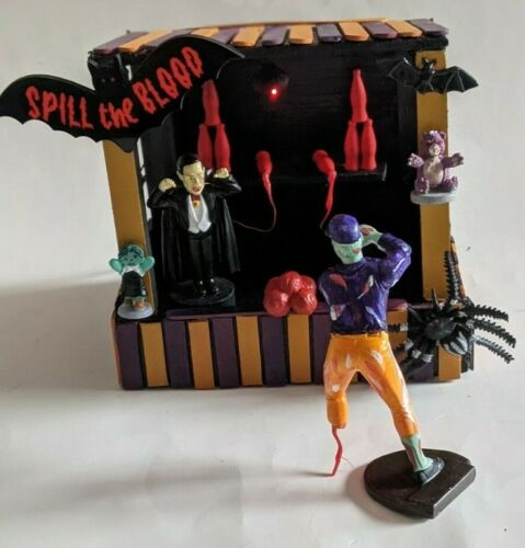 CUSTOM MADE SPILL THE BLOOD HALLOWEEN CARNIVAL BOOTH SPOOKY TOWN BLACK & ORANGE
