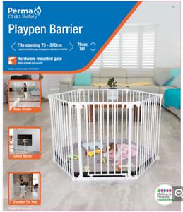 Perma Child Safety Playpen Barrier - WHITE