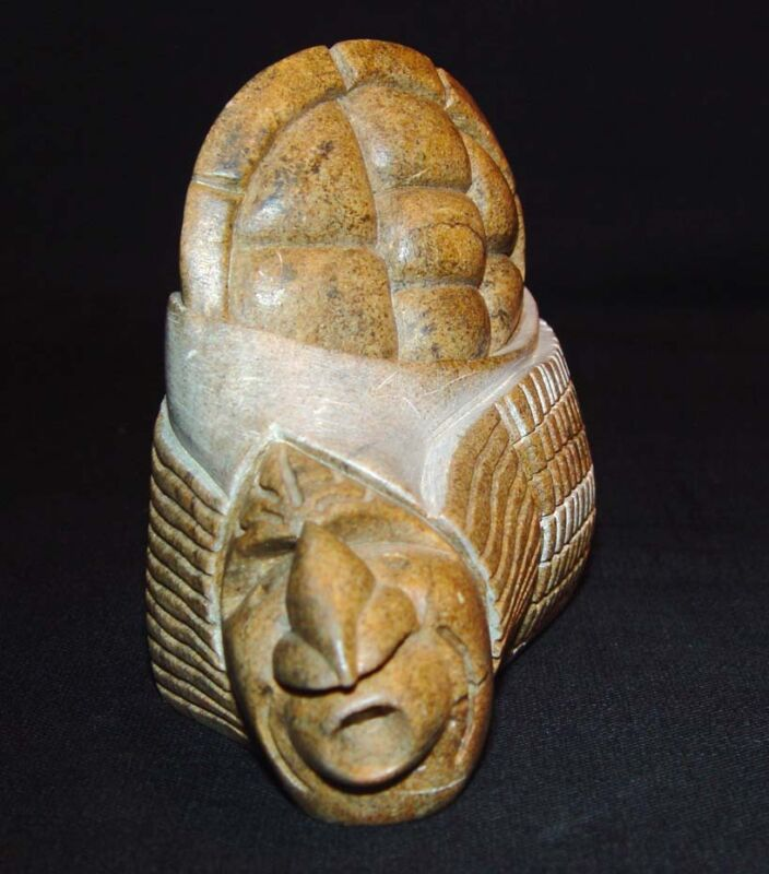 """Beautiful Vintage 1987 Iroquois Stone Carving Signed """"Sue Sky"""""""