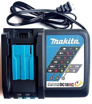 GENUINE Makita DC18RC 18V Rapid Battery Charger 18 Volt 4 BL1830,BL1840,BL1850
