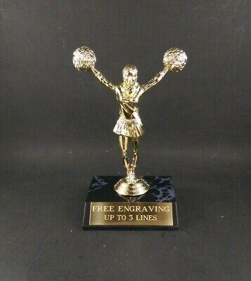 Cheerleader, Cheerleading Trophy Award. Free Custom Engraving.](Cheerleader Custome)