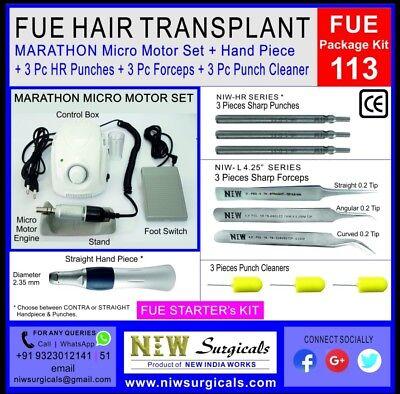 Fue Hair Transplant Kit 113 - Original Marathon Micro Motor With Punch Forceps