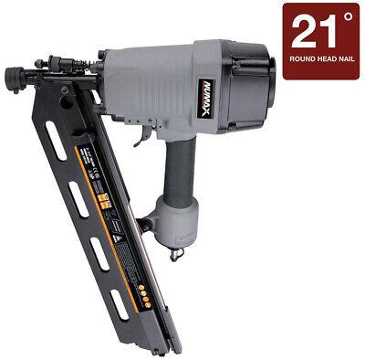 Framing Nailer Gun Pneumatic 21-Degree 3-1/2 in. Full Head S