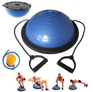 "23"" Yoga Bosu Balance Ball Trainer with Resistance Bands...."