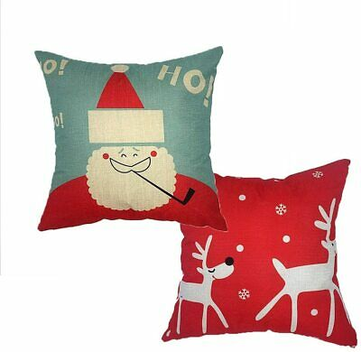 Glorybox Pack of 2 Christmas Decorative Solid Throw Pillow Covers 20x20""