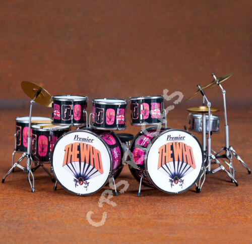 Keith Moon Drum Kit The Who Collectible Pictures of Lily Replica Mini Drum Kit