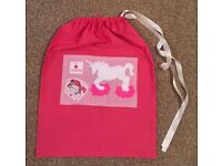 New handmade unicorn themed drawstring bags