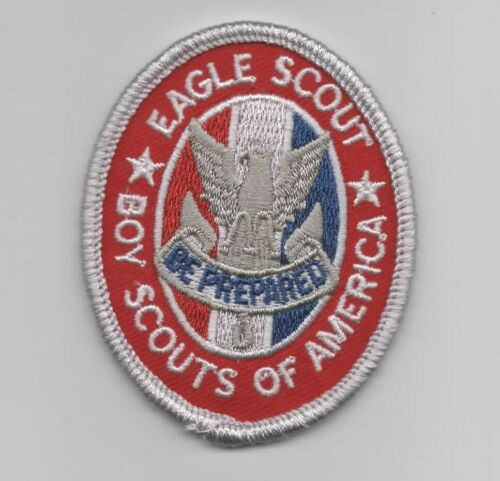 Boy Scouts of America Eagle Scout Current Rank Badge Patch BSA *White Back*