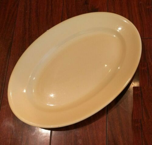 Vintage BUFFALO CHINA COLORIDO WARE YELLOW PLATTER RESTAURANT WARE ART DECO