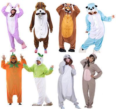 Pumpkin Adult Costume (Unisex Adult Pajama Kigurumi Pumpkin Cosplay Costume Animal One-piece Sleepwear)