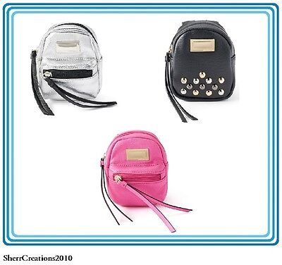 (NWT Juicy Couture Studded Backpack Key Chain Coin Purse Wallet Pouch  #341)