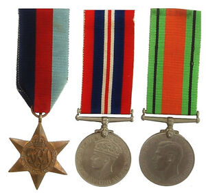 WW2 BRITISH GROUP 1939-1945 STAR & WAR & DEFENCE MEDAL