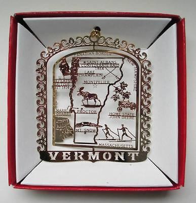 Vermont Brass Ornament State Landmarks Travel Souvenir Gift