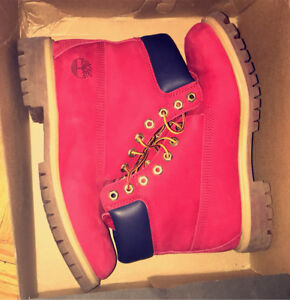 Timberland rouge botte d'hiver pour homme