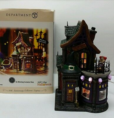 BE WITCHING COSTUME SHOP HALLOWEEN Department Dept 56 Snow Village RETIRED 54604