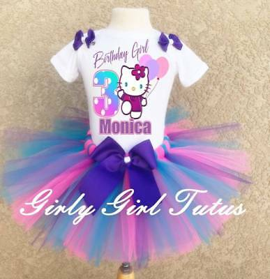 ized Custom Birthday Tutu Outfit Party Dress Set (Hello Kitty Tutu-outfit)