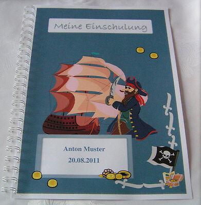 Festzeitung Schulanfang Einschulung - Piratenschiff - Geschenk 1. - Piraten Geschenk Tags