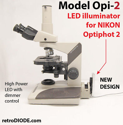 Model Optiphot-2 10 Watt Led Illuminator For Nikon Microscopes