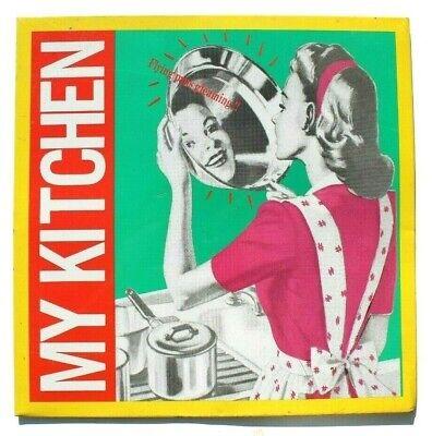 Vtg 1940s 50s Smoke Stone Metal My Kitchen Frying Pan Gleaming Advertising Sign