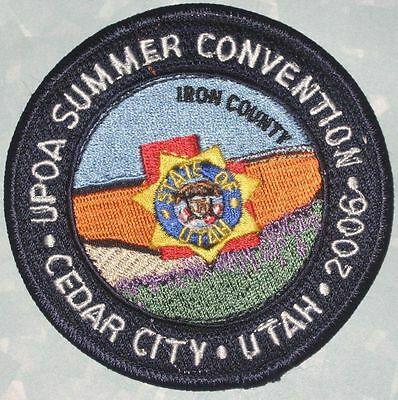 UPOA Summer Convention 2006 Patch - Cedar City, Utah - Police Officers Assoc.