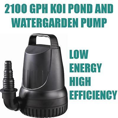 2100 GPH Koi Pond & Waterfall Pump ...