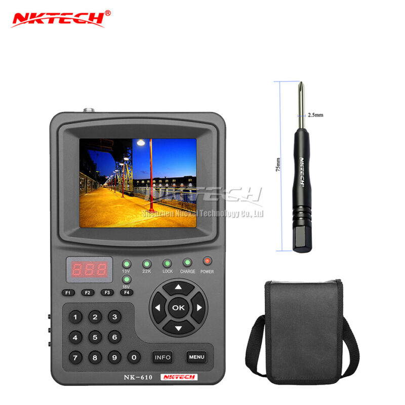NKTECH HD Digital Satellite TV Signal Finder Meter NK-610 CCTV Camera Monitor