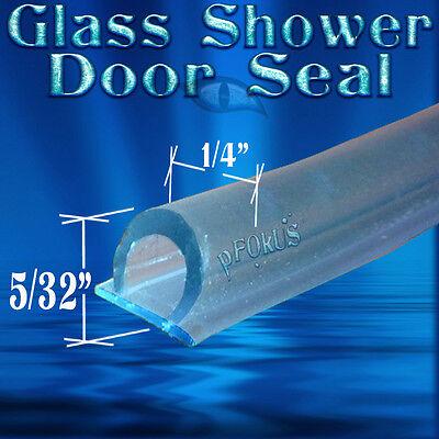 """5/32"""" Tall DS108 Frameless Glass Shower Door Seal, Wipe, Sweep - 98"""" Long"""