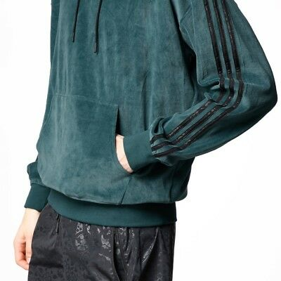 RARE - Medium Adidas Originals Ornamental Block Velour Velvet Hoodie Top CF5319