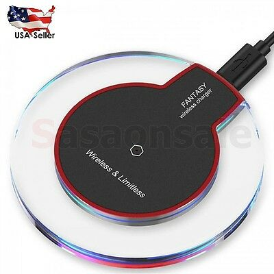 NEW FANTASY BLACK QI WIRELESS CHARGER CHARGING PAD FOR SAMSUNG GALAXY S6 S7 EDGE