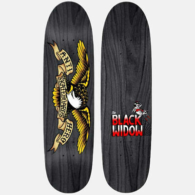 "Anti Hero Skateboard Deck Shaped Eagle Black Widow 8.5"" Directional Antihero"