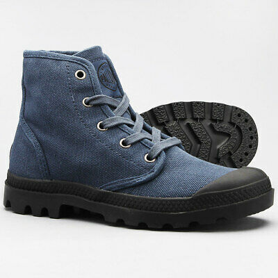 Men's Palladium Pampa Hi Canvas Boot Indigo / Black 02352408