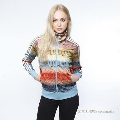 (New Women Multicolor Farm Menire Firebird Track Top Jacket Feathers S19333)