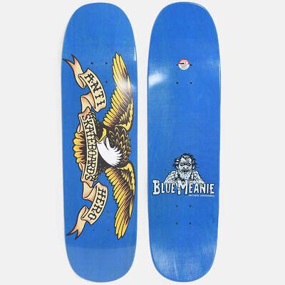 "Anti Hero Skateboard Deck Shaped Eagle Blue Meanie 8.75"" Overspray Antihero"