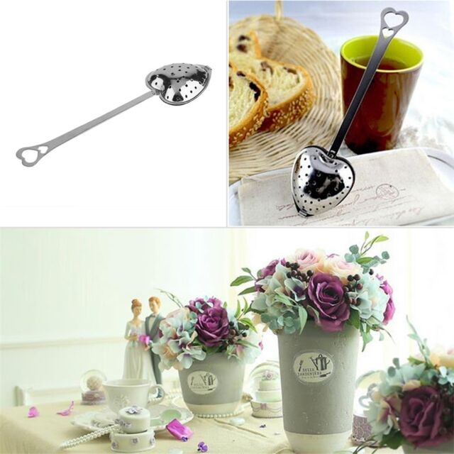 Hot Heart Shape Stainless Steel Tea Leaf Herbal Filter Infuser Spoon Strainer KK