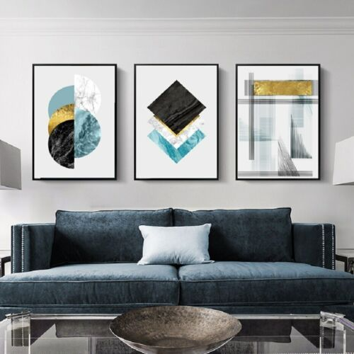 3+Piece+Canvas+Prints+-+Geometric+Marble+Wall+Art+Home+Decor+Painting+%28UNFRAMED%29