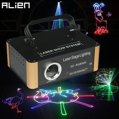 ALIEN 500mW RGB DMX SD Card Animation Laser Projector PRO DJ Disco Lights segunda mano  Embacar hacia Mexico