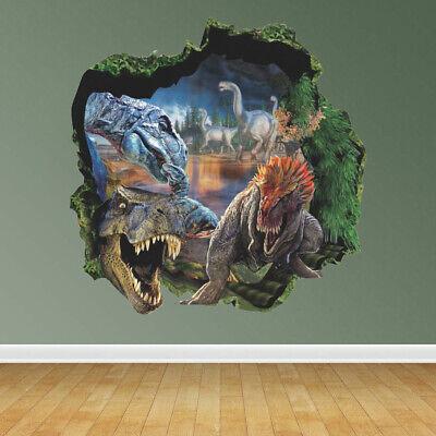 Vinyl Dinosaurs - 3D Dinosaur World Jurassic Park Wall Stickers Decal Mural Home Decoration Vinyl