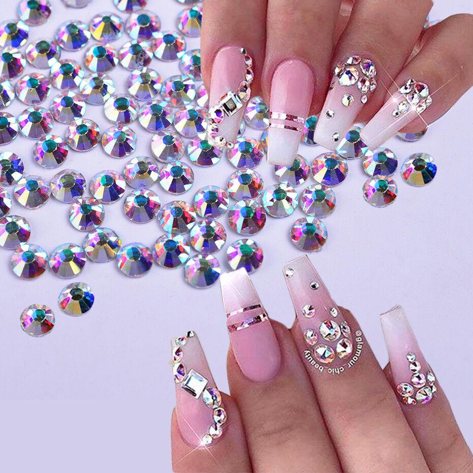 Details About 1440pcs Crystal Nail Rhinestone 3d Jewelry Glass Diamond Nail Art Decoration