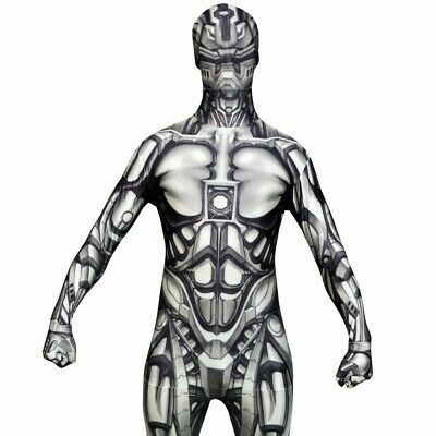 MORPHSUIT THE ANDROID KIDS BOYS GIRLS FANCY DRESS COSTUME HALLOWEEN