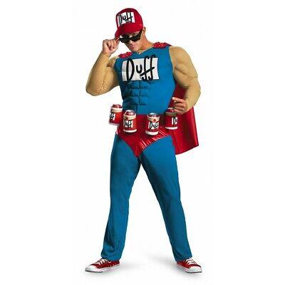 Mens Simpsons Licensed Duffman Fancy Dress Costume Beerman XL or XXL Beer Man (Duffman Simpsons Kostüm)
