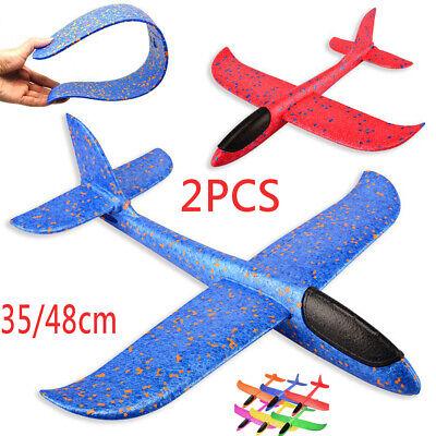 EPP Foam Hand Throw Airplane Outdoor Launch Glider Plane Kids Gift Toy 35/48CM B