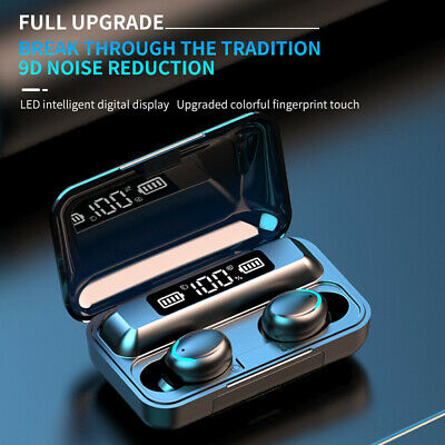 TWS BTH-F9-5 True Wireless Smart Touch Earbuds With Power Bank and Easy Pair.