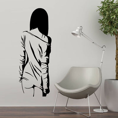 (Wall Sticker Sexy Naked Girl Woman Teen Bedroom Vinyl Decals Decor Anime Manga)