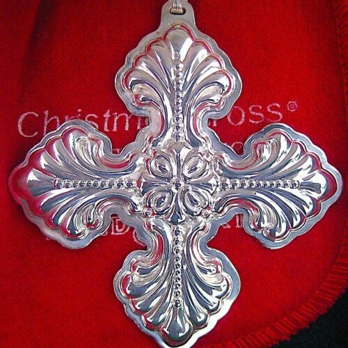 NEW • Reed & Barton 1995 CHRISTMAS CROSS Sterling Silver Ornament 25th Edition