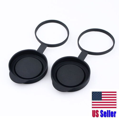 Tethered Objective Lens Covers for Binoculars 52-54mm US Seller | Fast Ship