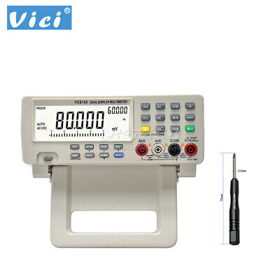 Vici Vc8145 4 78 Dmm Digital Bench Top Multimeter True Rms 80k Count Auto-range