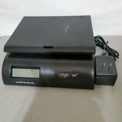 Weighmax W-2822-75l Black Digital Postal Shipping Scale Capacity 75lb-34kg