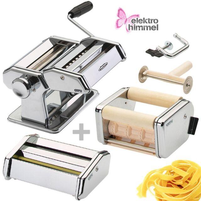 GEFU Pasta Perfetta Deluxe Nudelmaschine Pasta Maschine mit 3 Aufsätzen NEU/OVP