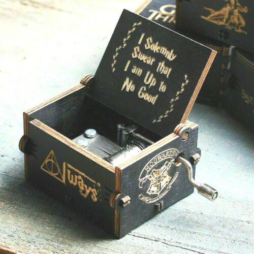"""Birthday Gifts Toys """"Harry Potter"""" Wooden Music Box HandCranked Classic Handmade"""
