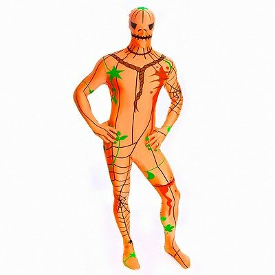 Morph suit Morph Costume Original Official New Pumpkin scary Halloween XXL - Scary Morphsuit